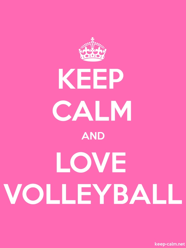 KEEP CALM AND LOVE VOLLEYBALL - white/pink - Default (600x800)