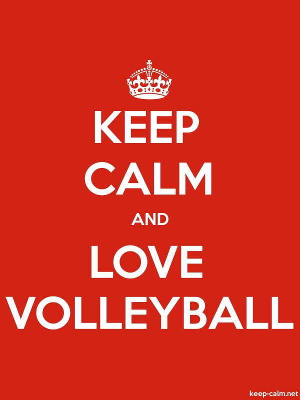 KEEP CALM AND LOVE VOLLEYBALL - white/red - Default (600x800)