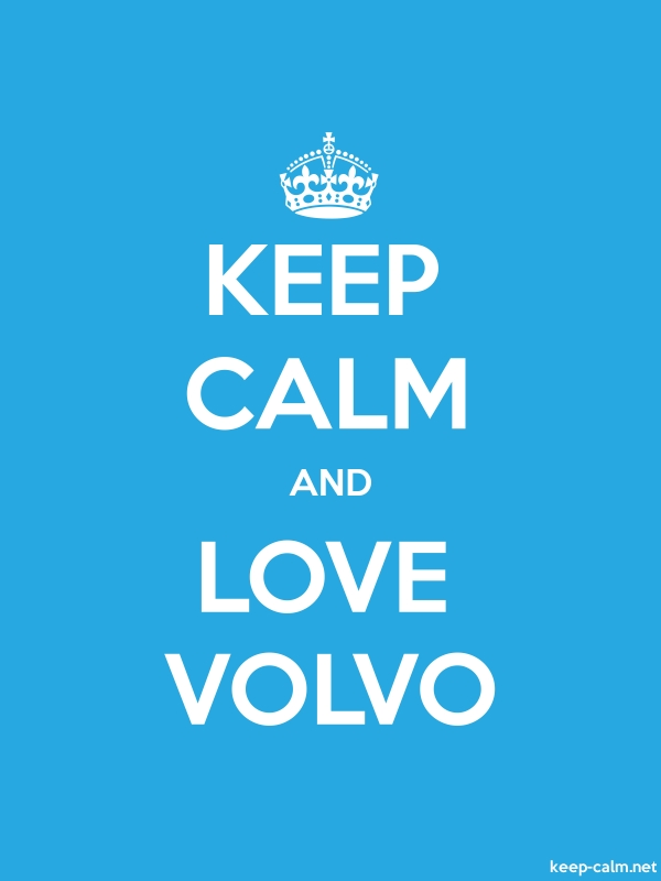 KEEP CALM AND LOVE VOLVO - white/blue - Default (600x800)