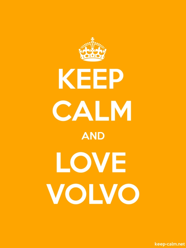 KEEP CALM AND LOVE VOLVO - white/orange - Default (600x800)