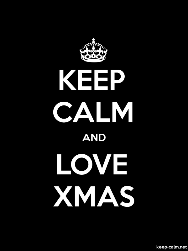 KEEP CALM AND LOVE XMAS - white/black - Default (600x800)