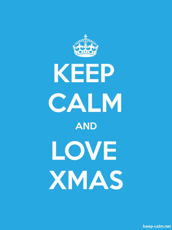 KEEP CALM AND LOVE XMAS - white/blue - Default (600x800)