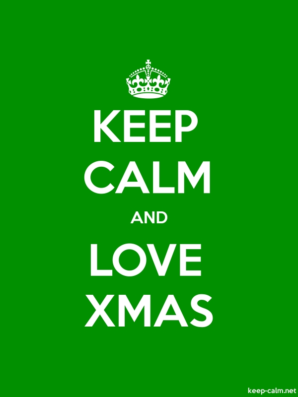 KEEP CALM AND LOVE XMAS - white/green - Default (600x800)