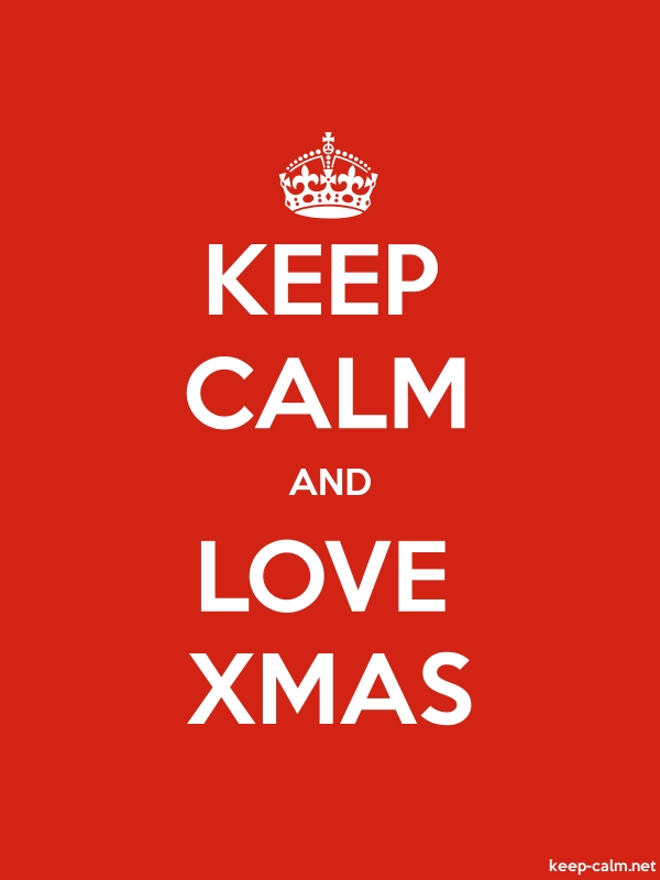 KEEP CALM AND LOVE XMAS - white/red - Default (600x800)