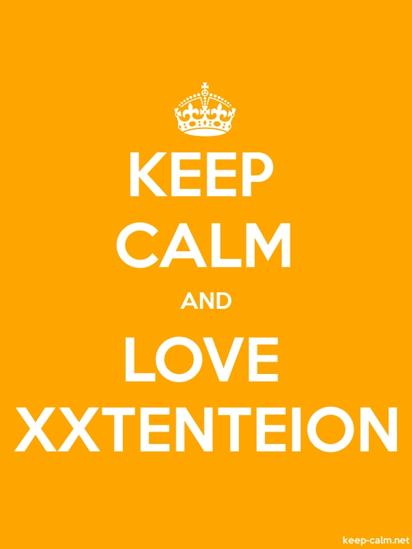 KEEP CALM AND LOVE XXTENTEION - white/orange - Default (600x800)