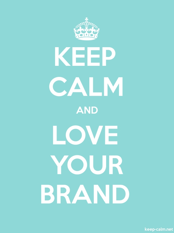 KEEP CALM AND LOVE YOUR BRAND - white/lightblue - Default (600x800)
