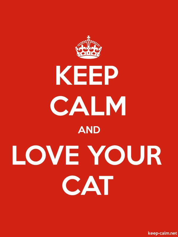 KEEP CALM AND LOVE YOUR CAT - white/red - Default (600x800)