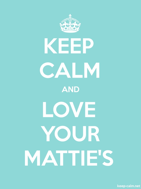 KEEP CALM AND LOVE YOUR MATTIE'S - white/lightblue - Default (600x800)