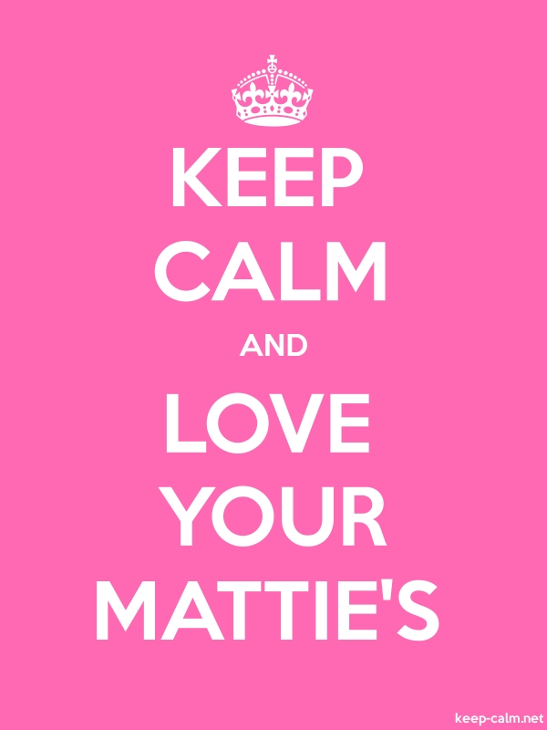 KEEP CALM AND LOVE YOUR MATTIE'S - white/pink - Default (600x800)