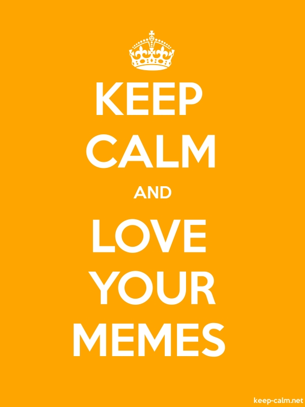 KEEP CALM AND LOVE YOUR MEMES - white/orange - Default (600x800)