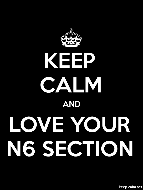 KEEP CALM AND LOVE YOUR N6 SECTION - white/black - Default (600x800)