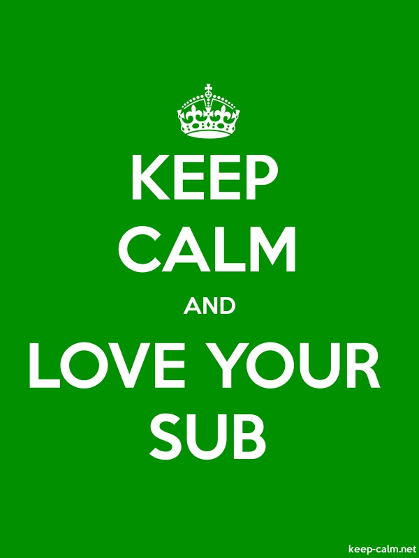 KEEP CALM AND LOVE YOUR SUB - white/green - Default (600x800)