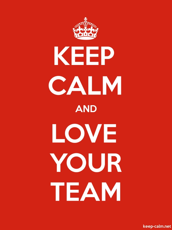 KEEP CALM AND LOVE YOUR TEAM - white/red - Default (600x800)