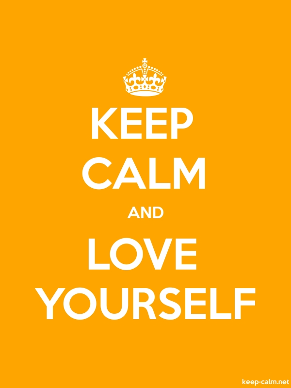 KEEP CALM AND LOVE YOURSELF - white/orange - Default (600x800)
