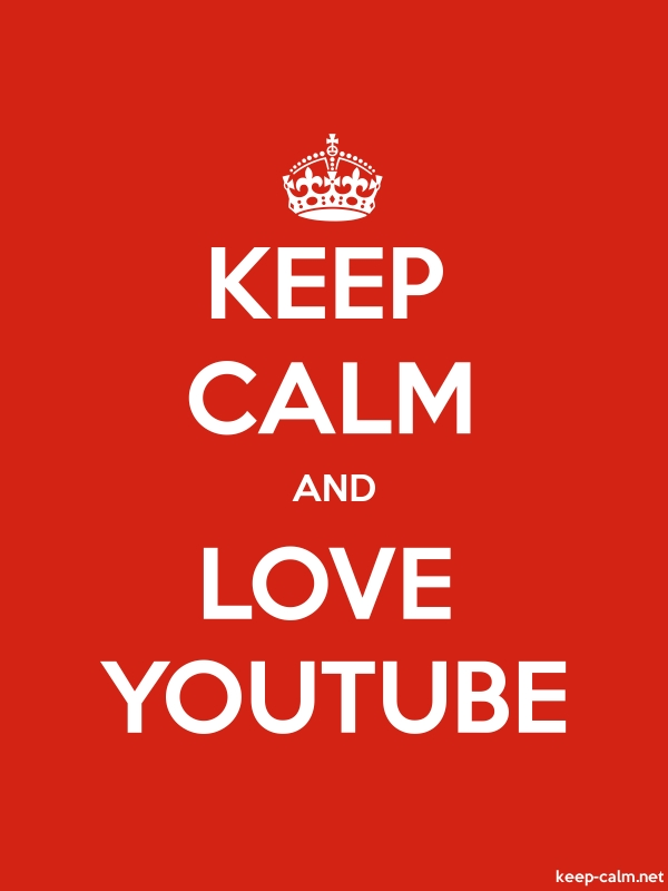 KEEP CALM AND LOVE YOUTUBE - white/red - Default (600x800)