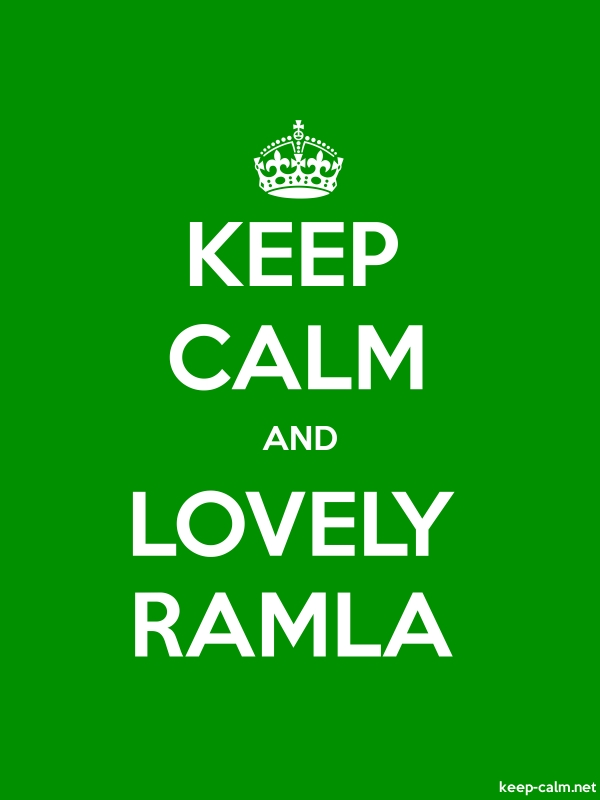 KEEP CALM AND LOVELY RAMLA - white/green - Default (600x800)