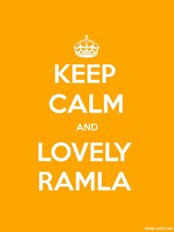 KEEP CALM AND LOVELY RAMLA - white/orange - Default (600x800)