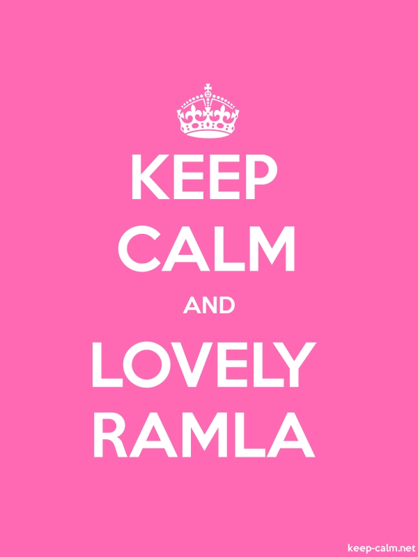 KEEP CALM AND LOVELY RAMLA - white/pink - Default (600x800)