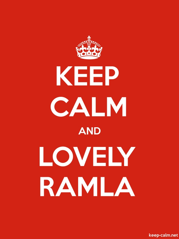 KEEP CALM AND LOVELY RAMLA - white/red - Default (600x800)