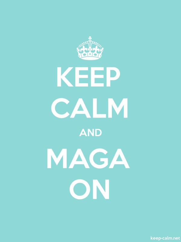 KEEP CALM AND MAGA ON - white/lightblue - Default (600x800)