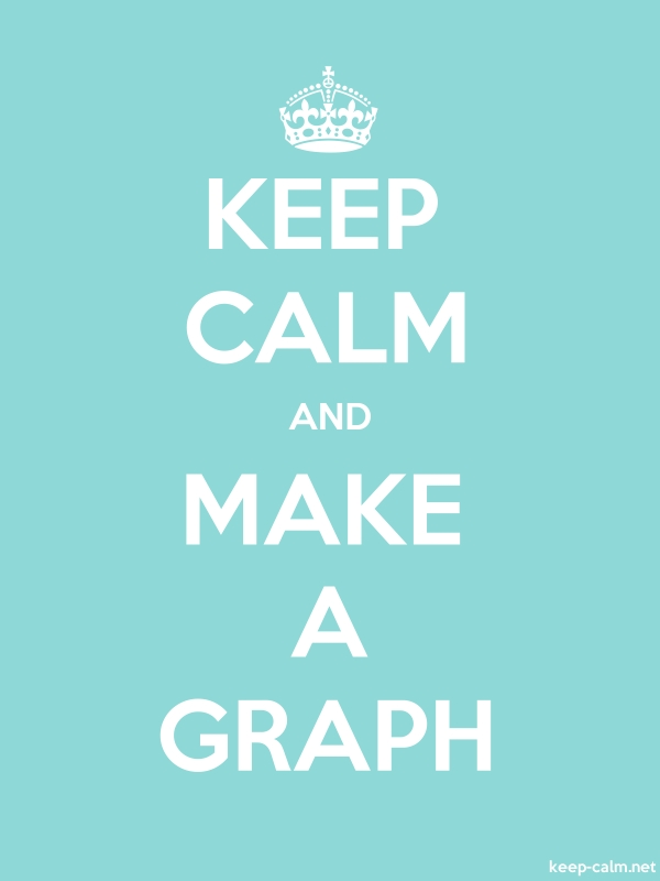 KEEP CALM AND MAKE A GRAPH - white/lightblue - Default (600x800)