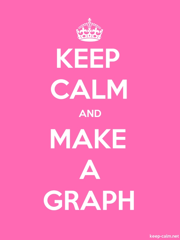 KEEP CALM AND MAKE A GRAPH - white/pink - Default (600x800)