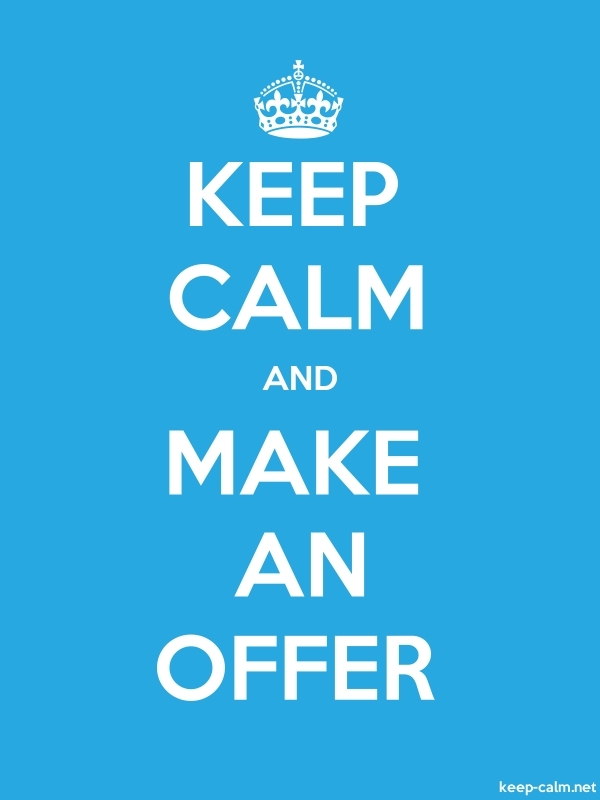 KEEP CALM AND MAKE AN OFFER - white/blue - Default (600x800)