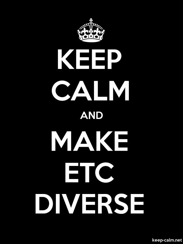 KEEP CALM AND MAKE ETC DIVERSE - white/black - Default (600x800)