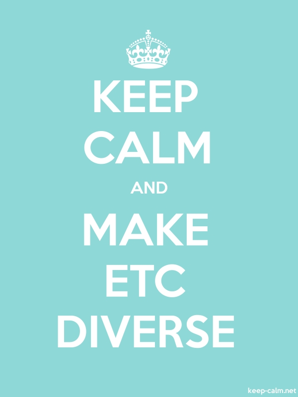 KEEP CALM AND MAKE ETC DIVERSE - white/lightblue - Default (600x800)