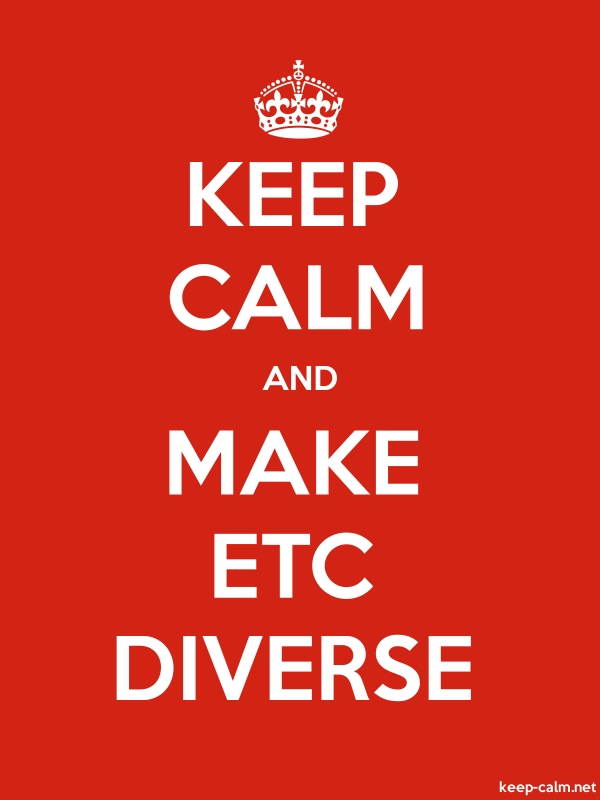 KEEP CALM AND MAKE ETC DIVERSE - white/red - Default (600x800)