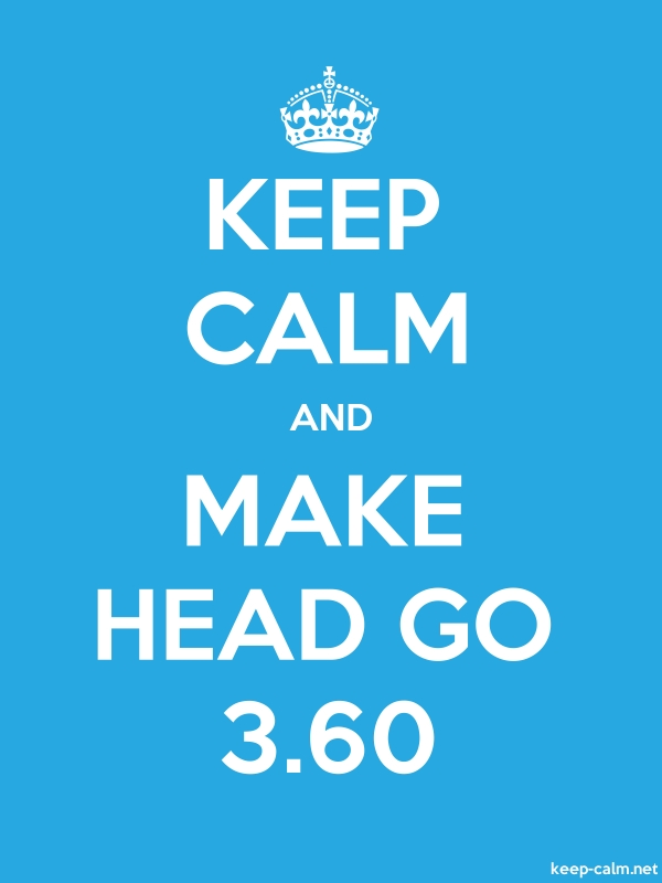 KEEP CALM AND MAKE HEAD GO 3.60 - white/blue - Default (600x800)