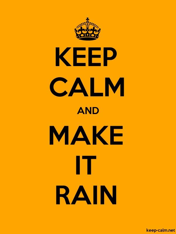 KEEP CALM AND MAKE IT RAIN - black/orange - Default (600x800)