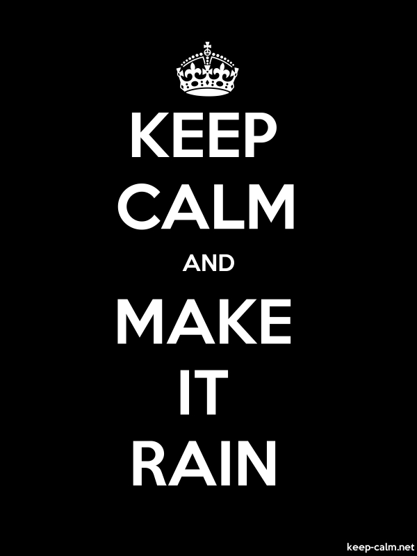 KEEP CALM AND MAKE IT RAIN - white/black - Default (600x800)