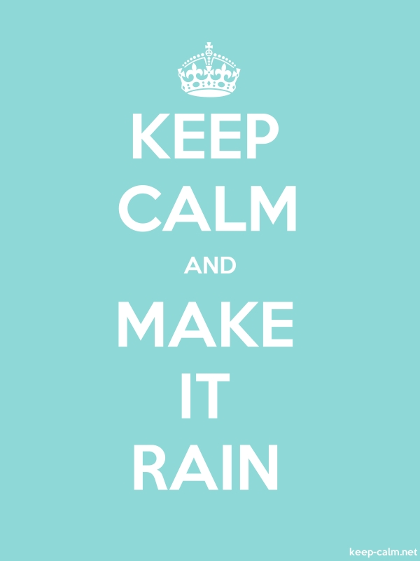 KEEP CALM AND MAKE IT RAIN - white/lightblue - Default (600x800)