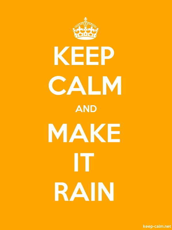 KEEP CALM AND MAKE IT RAIN - white/orange - Default (600x800)