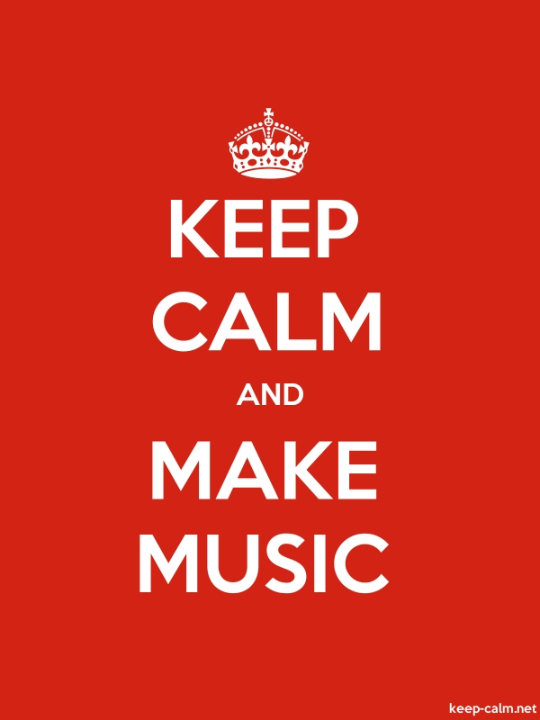 KEEP CALM AND MAKE MUSIC - white/red - Default (600x800)