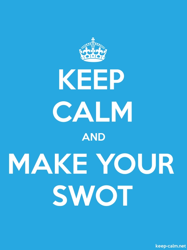 KEEP CALM AND MAKE YOUR SWOT - white/blue - Default (600x800)