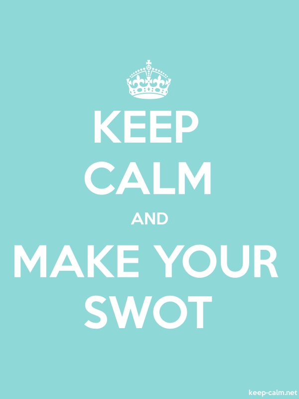 KEEP CALM AND MAKE YOUR SWOT - white/lightblue - Default (600x800)