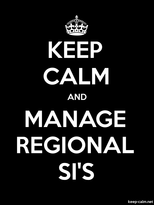 KEEP CALM AND MANAGE REGIONAL SI'S - white/black - Default (600x800)
