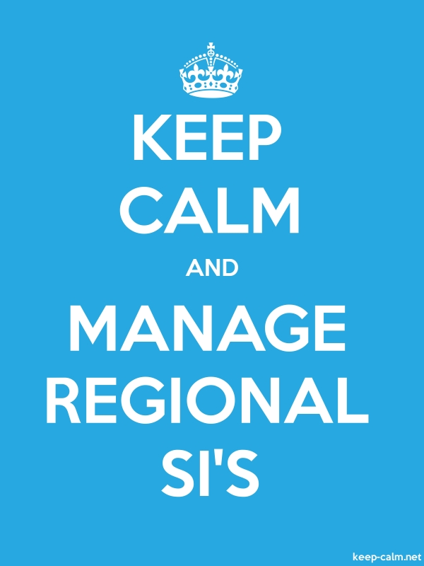 KEEP CALM AND MANAGE REGIONAL SI'S - white/blue - Default (600x800)