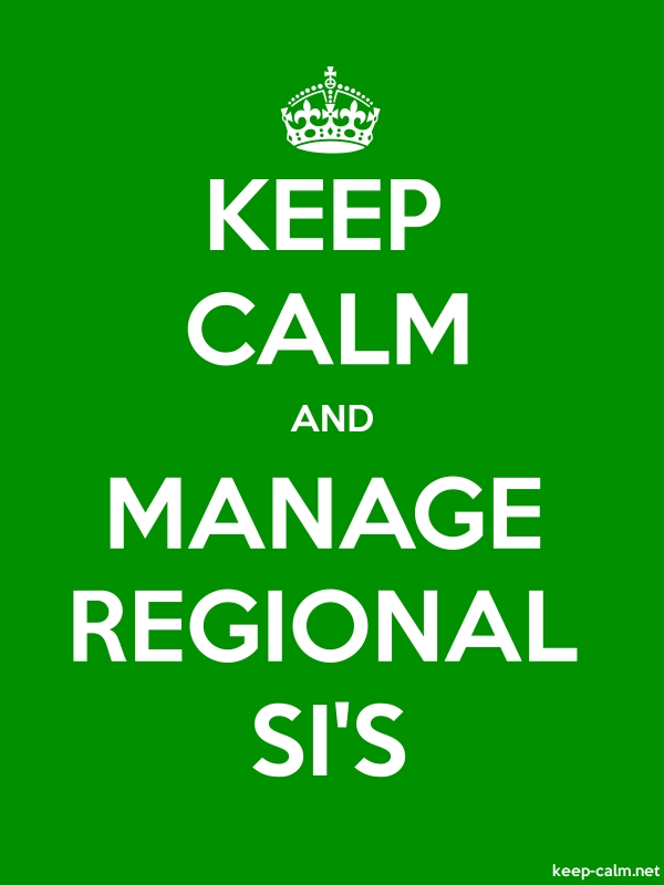 KEEP CALM AND MANAGE REGIONAL SI'S - white/green - Default (600x800)