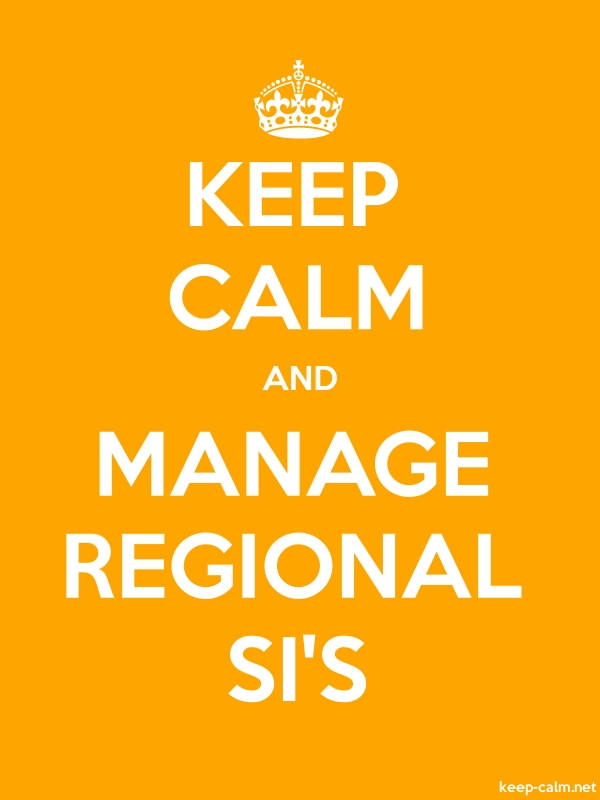 KEEP CALM AND MANAGE REGIONAL SI'S - white/orange - Default (600x800)