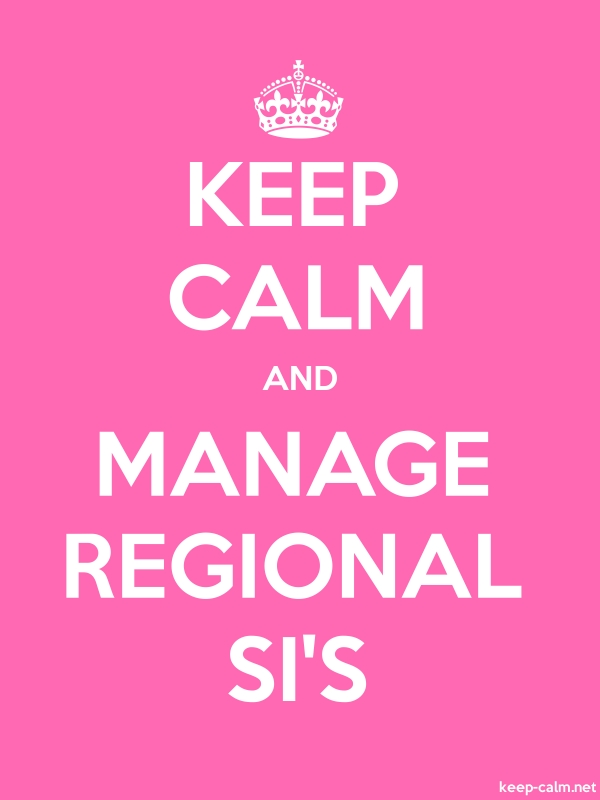 KEEP CALM AND MANAGE REGIONAL SI'S - white/pink - Default (600x800)