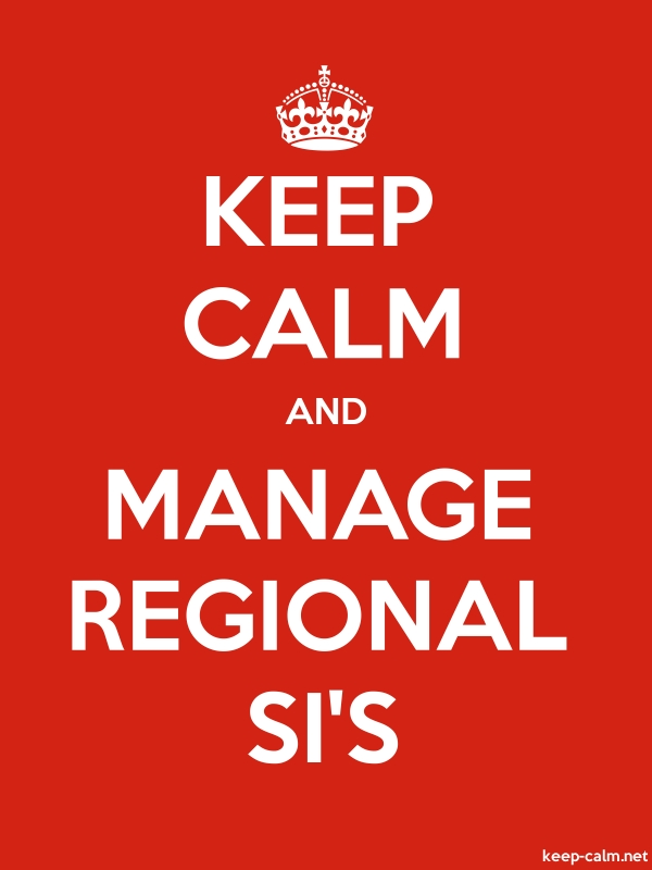 KEEP CALM AND MANAGE REGIONAL SI'S - white/red - Default (600x800)