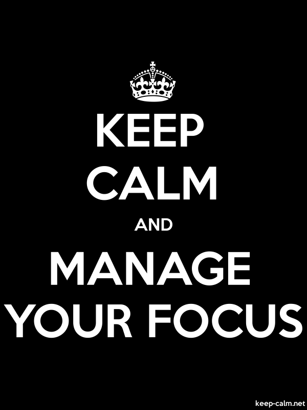 KEEP CALM AND MANAGE YOUR FOCUS - white/black - Default (600x800)