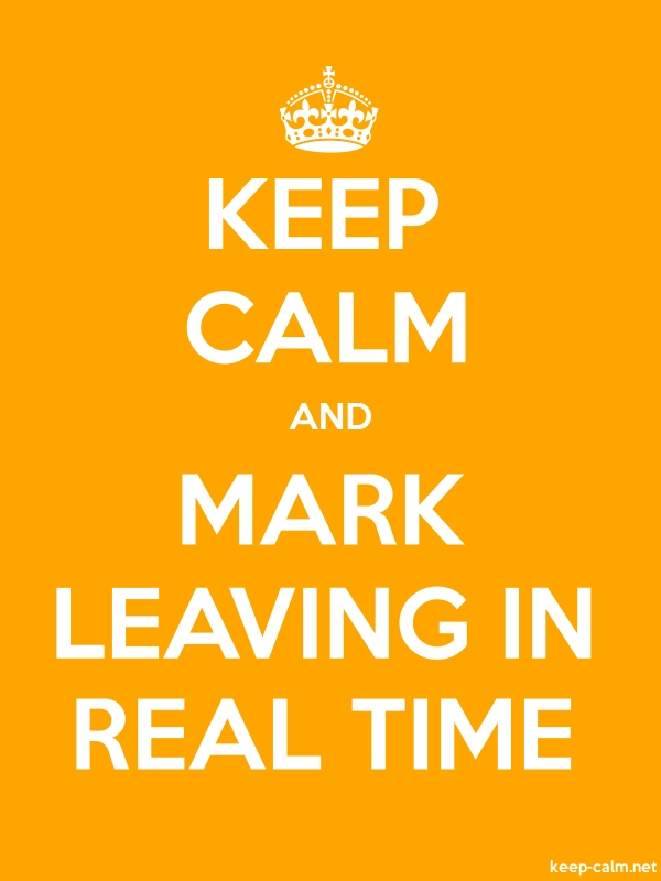 KEEP CALM AND MARK LEAVING IN REAL TIME - white/orange - Default (600x800)