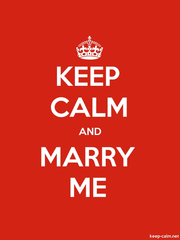 KEEP CALM AND MARRY ME - white/red - Default (600x800)