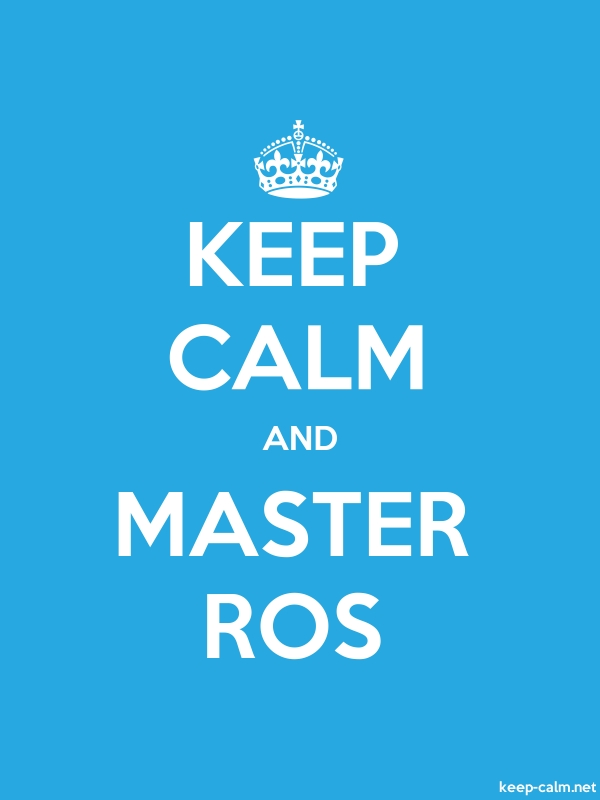 KEEP CALM AND MASTER ROS - white/blue - Default (600x800)