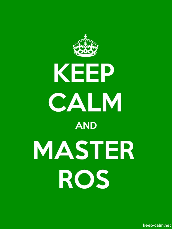 KEEP CALM AND MASTER ROS - white/green - Default (600x800)