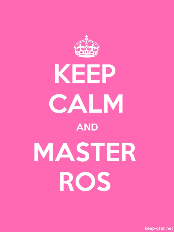 KEEP CALM AND MASTER ROS - white/pink - Default (600x800)